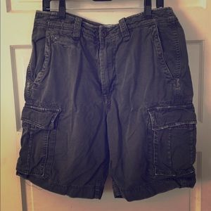 American Eagle Faded Black Cargo  34 Well Loved!